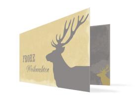 Weihnachtskarte für Unternehmen Holy Moose Grau