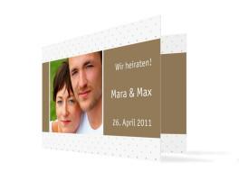 Hochzeitseinladung Prag (Klappkarte, mit Fotos)