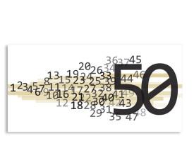 Einladung 50. Geburtstag Technik (Postkarte) Beige