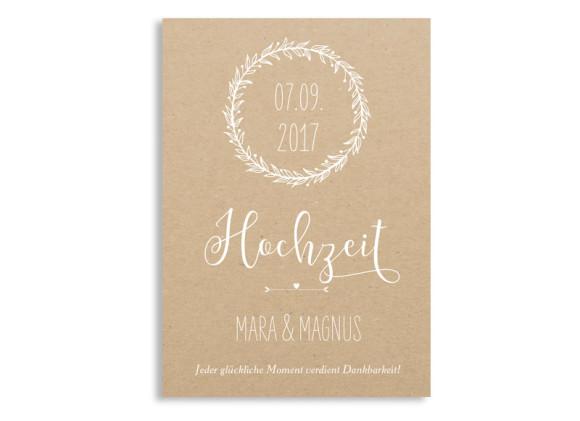 Danksagungskarten zur Hochzeit Nature