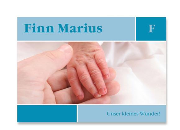 Geburtskarte Finja/Finn (Postkarte)