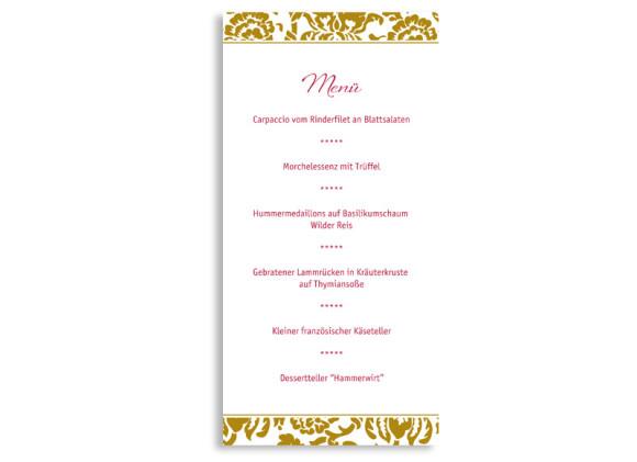 Rückseite, Menükarte zur Hochzeit (DIN Lang-Karte, zweiseitig), Motiv Barcelona, Farbversion: beige