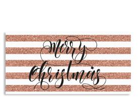 Weihnachtskarten Copper (Postkarte) Roségold