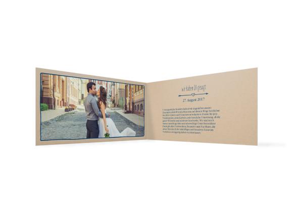 Danksagungskarte zur Hochzeit, Motiv: TImeline Cute, Farbe: Dunkelblau, Ansicht: innen