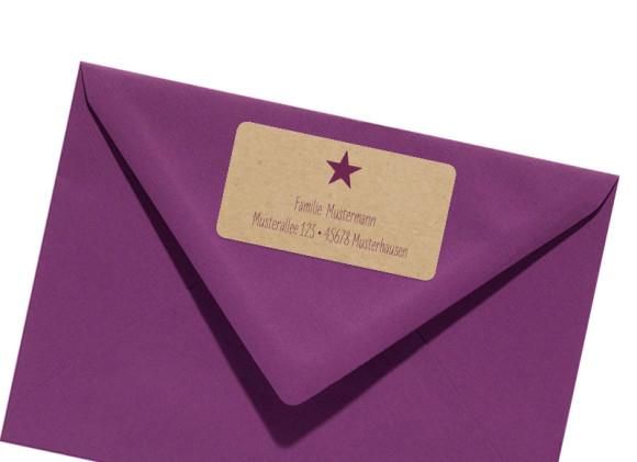 Adress-Etikett Sternchen (Weihnachten)