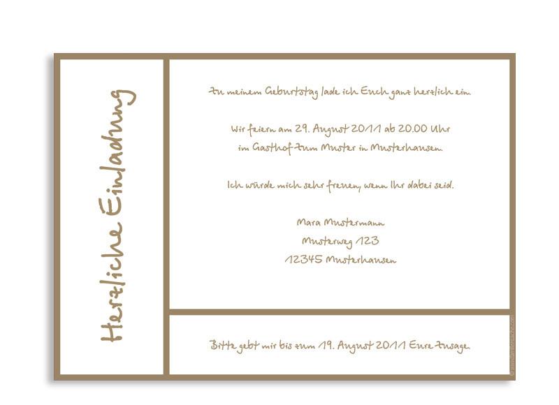 einladungskarten online gestalten: glasgow | einladung zum geburtstag, Einladungsentwurf
