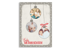 Weihnachtskarte Christmas Bubbles Beere