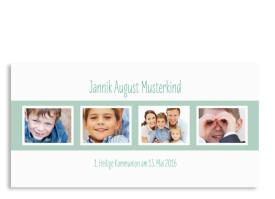 Danksagungskarten zur Kommunion Jette/Jannik FRESH Pistazie