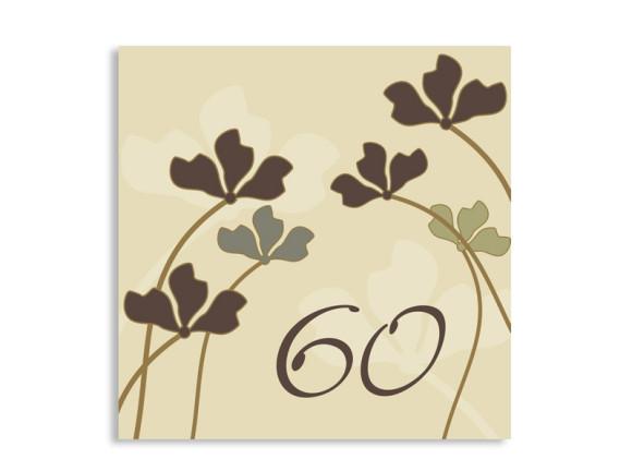 Einladungskarte Growing zum 60. Geburtstag