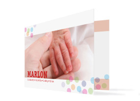 Geburtskarte Marlene/Marlon Rot