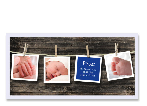 Geburtskarte Heidi/Peter (Postkarte)