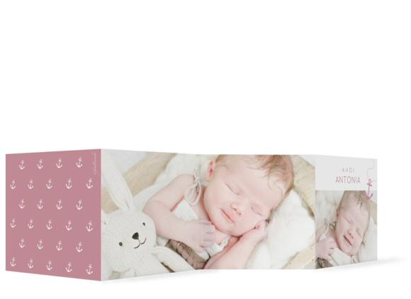 "Babykarte ""Antonia/Alexander"""