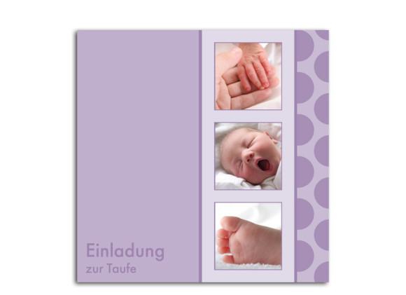 Taufkarte Kira/Kim (quadratische Postkarte)