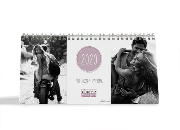 Choose your Pics Fotokalender, Motiv: Runde Sache, Innenansicht, Farbvariante: aubergine