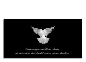 Trauerkarte Taube (Postkarte) Schwarz