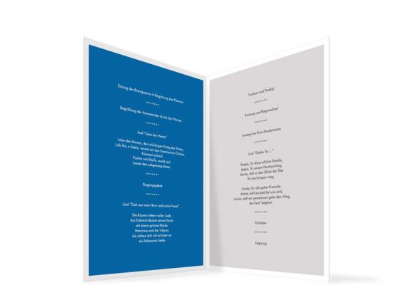 Kirchenheft Athen, Innenansicht der Farbversion: blau