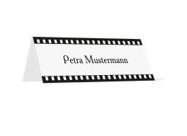 Tischkarten zur Hochzeit Hollywood (Klappkärtchen quer)