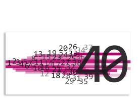 Einladung Technik 40. Geburtstag (Postkarte, ohne Foto) Pink