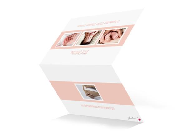 Babykarte (Klappkarte A6, quer, Öffnung unten), Motiv: Jette/Janik FRESH, Aussenansicht, Farbversion: apricot