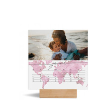 "Foto-Tischkalender ""Weltkarte"" Foto-Tischkalender 150x150 mm altrosa"