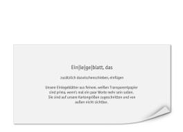 Bedruckte Einlegeblätter DIN Lang (Transparentpapier)