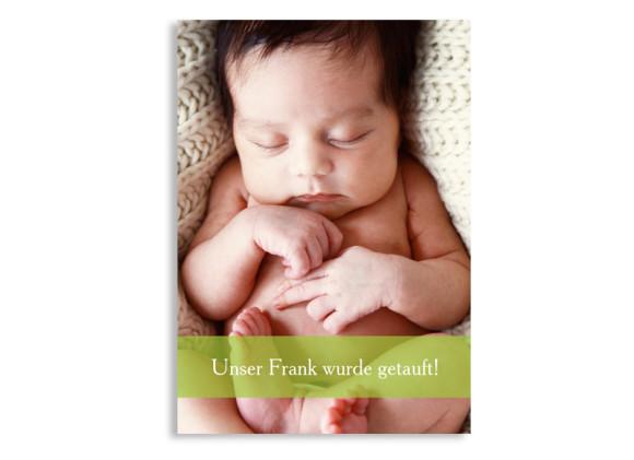 Danksagungen zur Taufe Felia/Frank