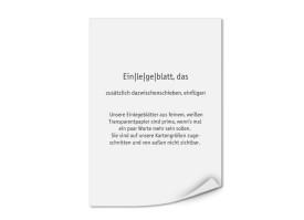 Bedruckte Einlegeblätter DIN A5 (Transparentpapier) Transparent