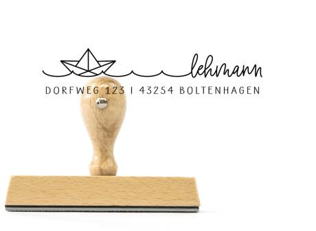 """Adress-Stempel """"Boltenhagen"""" (Holzstempel), 105 x 20 mm"""