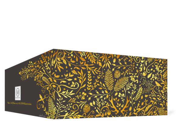 Firmen-Weihnachtskarte Naturgold (Klappkarte), Außenansicht in der Farbvariante anthrazit