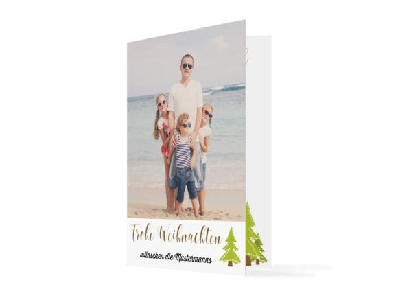 Weihnachtskarte Bäumchen