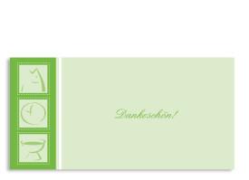 Taufdanksagung Simone/Simon (Postkarte) Grün