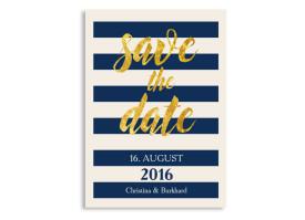 Save the Date Monaco Blau