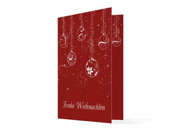 Firmen-Weihnachtskarte Weihnachtskugeln