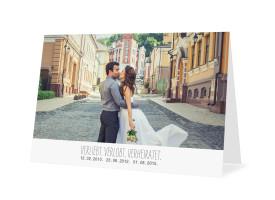Danksagungskarten zur Hochzeit Blanche (Öffnung unten) Weiß
