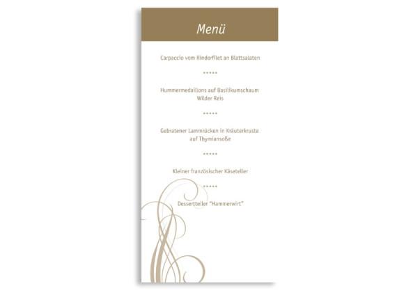 Rückseite, Menükarte zur Hochzeit (DIN Lang-Karte, zweiseitig), Motiv Dublin, Farbversion: beige