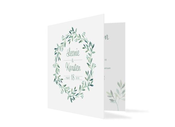 """Einladungskarten Hochzeit """"Blätterkranz"""""""