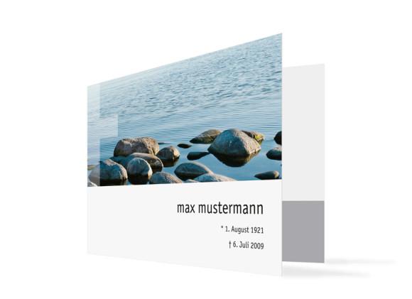 Trauerkarten Steine ohne Foto (C6-Klappkarte)