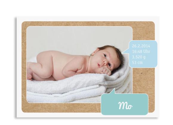 Babykarten Mali/Mo (Postkarte)