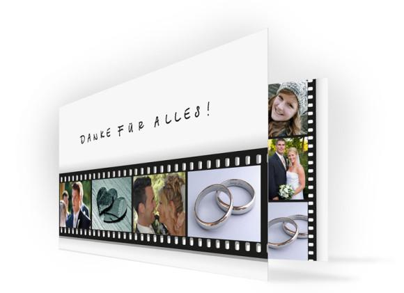 Hochzeits-Danksagung Hollywood (Klappkarte)