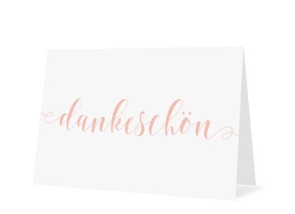 Danksagungskarten zur Konfirmation Calligraphy