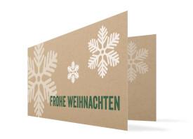 Firmen-Weihnachtskarten Eissterne Grün