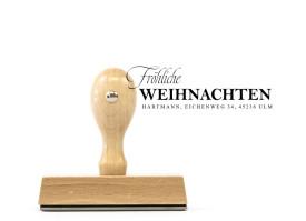 """Weihnachts-Stempel """"Fröhliche Weihnachten"""" (Holzstempel)"""