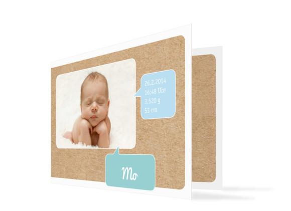 Karten zur Geburt Mali/Mo (Klappkarte)