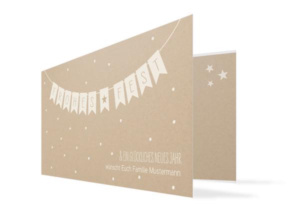 Weihnachtskarte Weihnachtskette (Klappkarte)