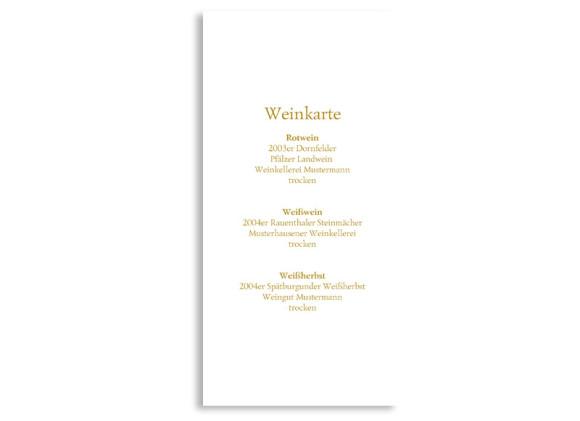 Rückseite, Menükarte zur Hochzeit (DIN Lang-Karte, zweiseitig), Motiv Casablanca, Farbversion: beige