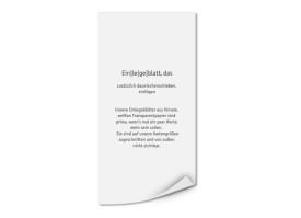Transparente Einlegeblätter DIN Lang Hoch (bedruckt) Transparent