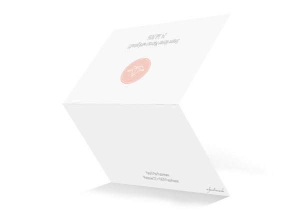 Taufkarte, Motiv Pure Origami, Aussenseite, Klappkarte A6, Farbversion: apricot