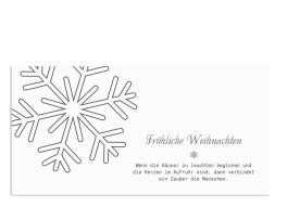Weihnachtskarte Eiskristall (Postkarte)