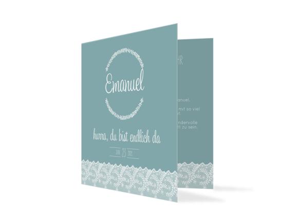 Babykarte Elisabeth/Emanuel