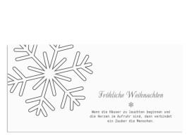 Weihnachtskarte Eiskristall (Postkarte) Grau